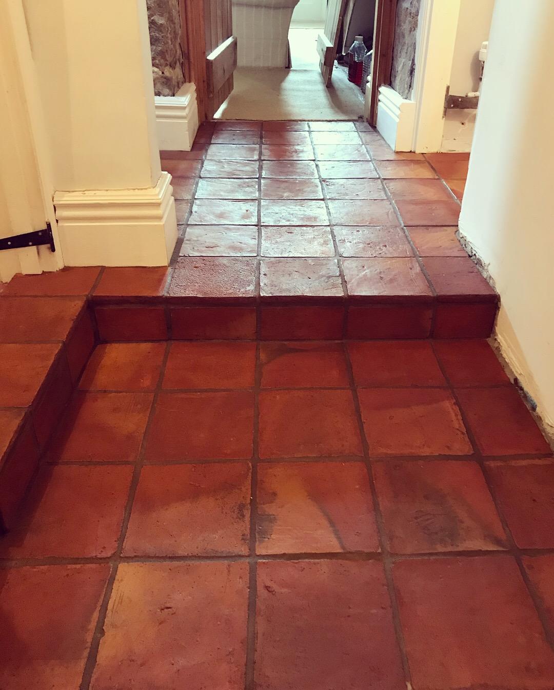 Terracotta floor tiles in Derbyshire