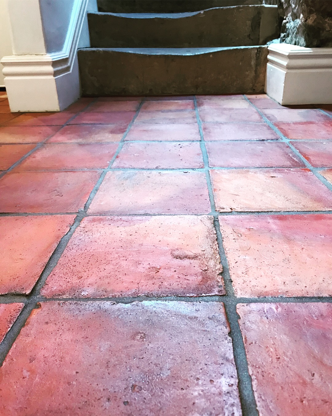 Terracotta floor tiles in Derbyshire