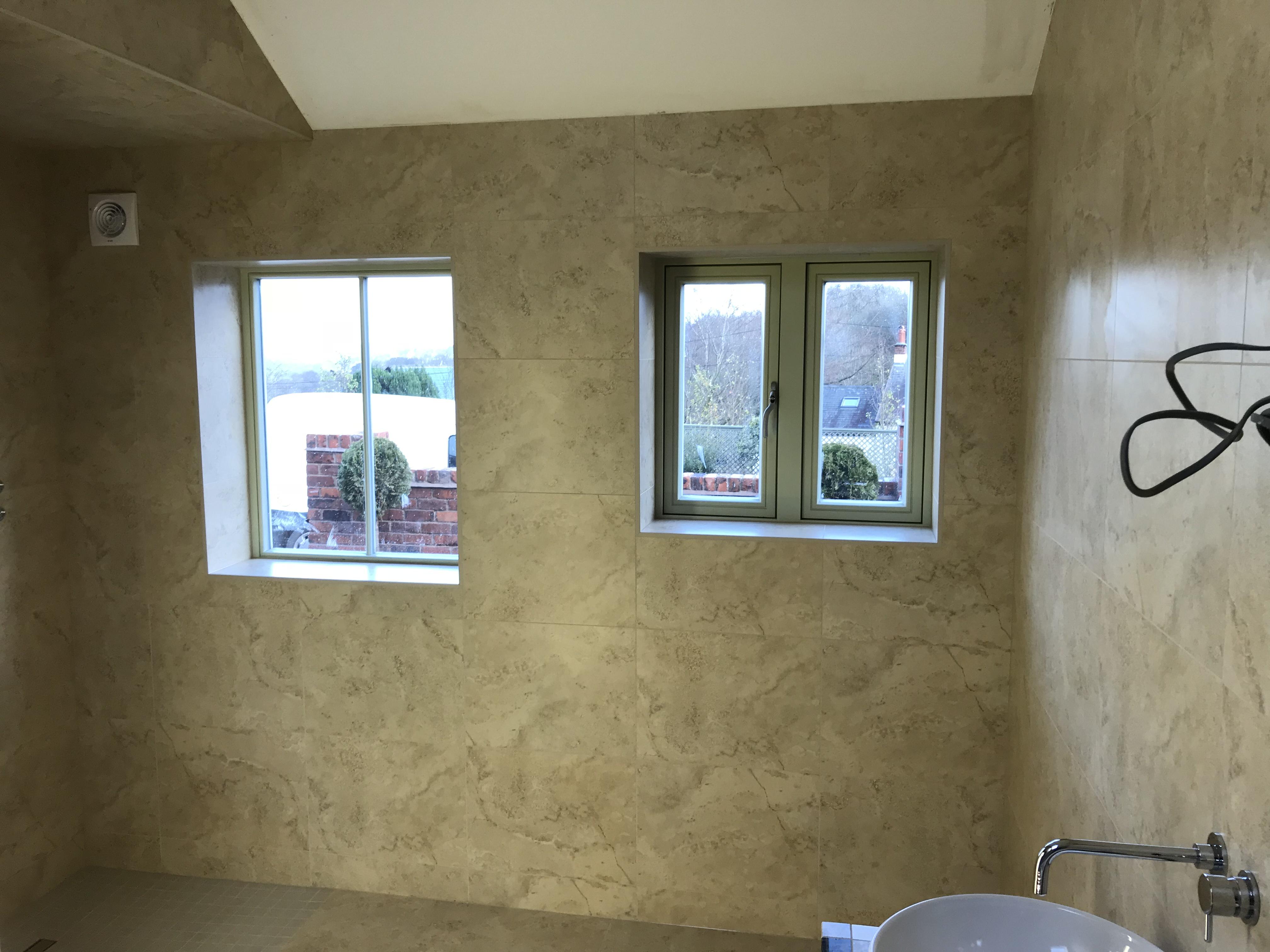 Porcelain wet room Tiling