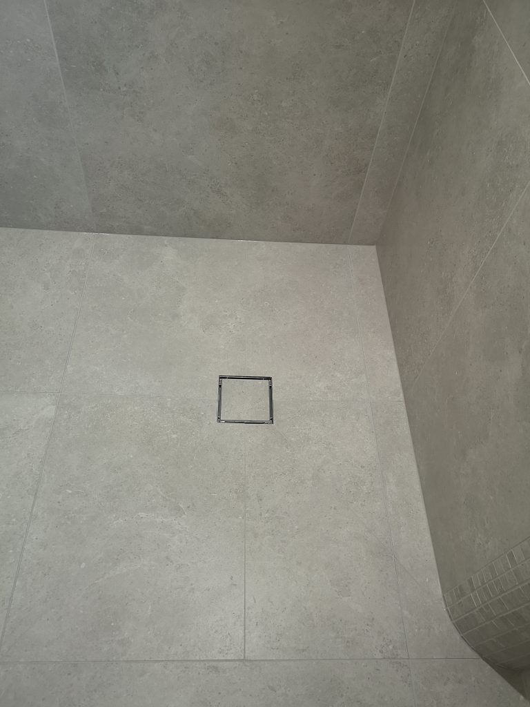 Large format tiled wet room in chesterfield