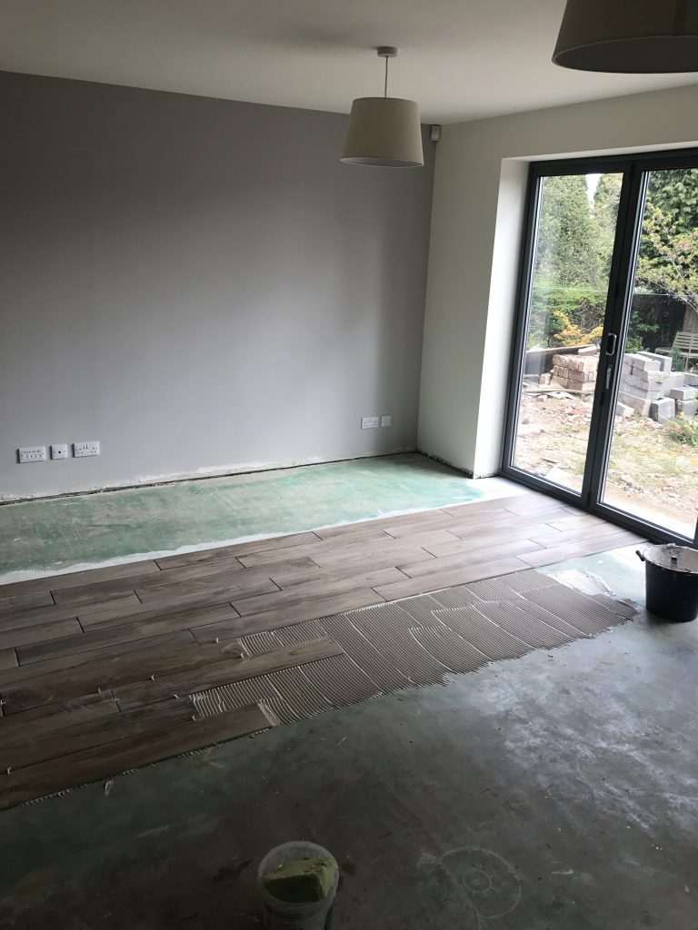 Porcelain planks using the solid bed method by Andy Coldwell