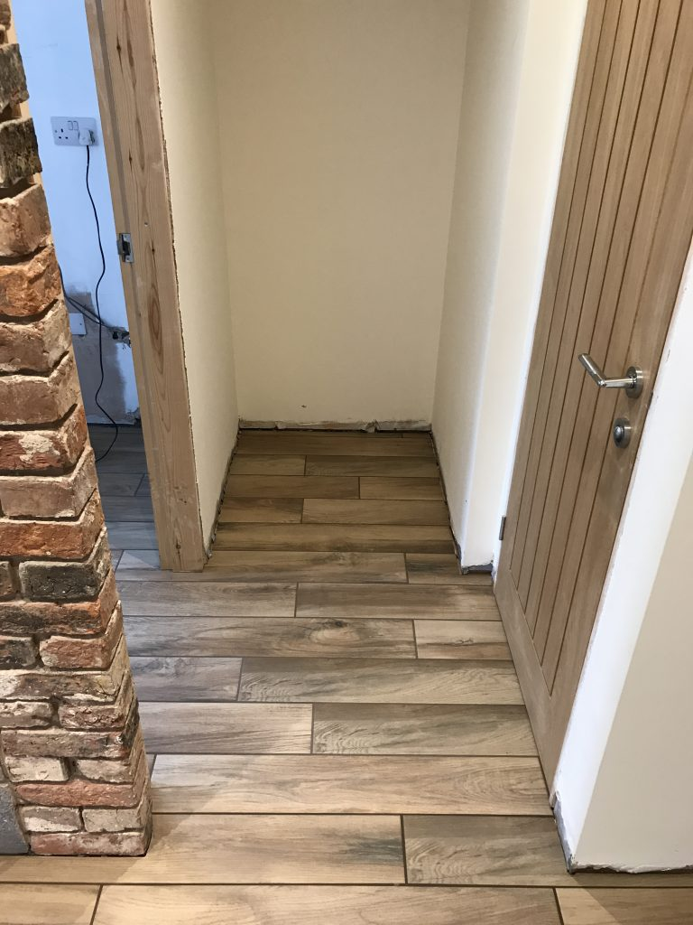 Wood look porcelain plank tiles in Chesterfield