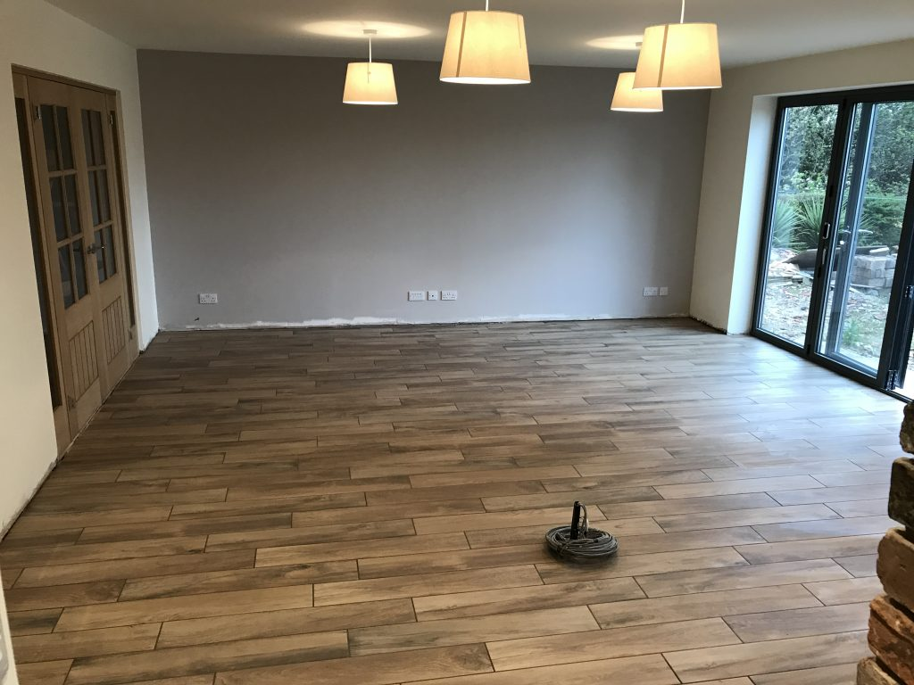 Wood look porcelain tiles in Chesterfield