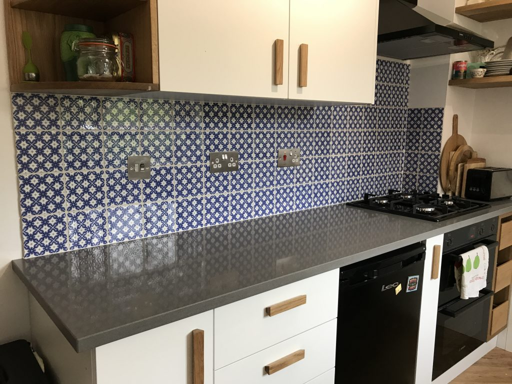 Handmade tiles fitted by Andy Coldwell Tiling Excellence In Sheffield