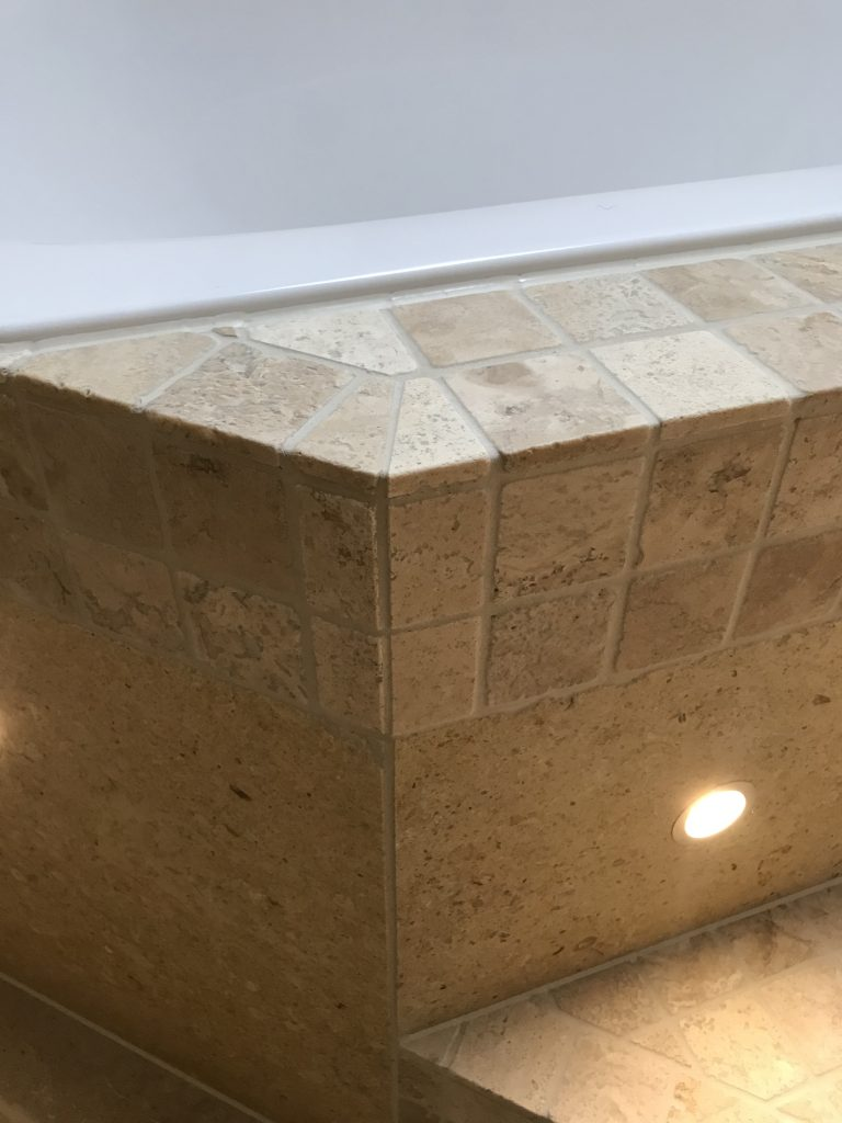 travertine mosaic by andy coldwell tiling