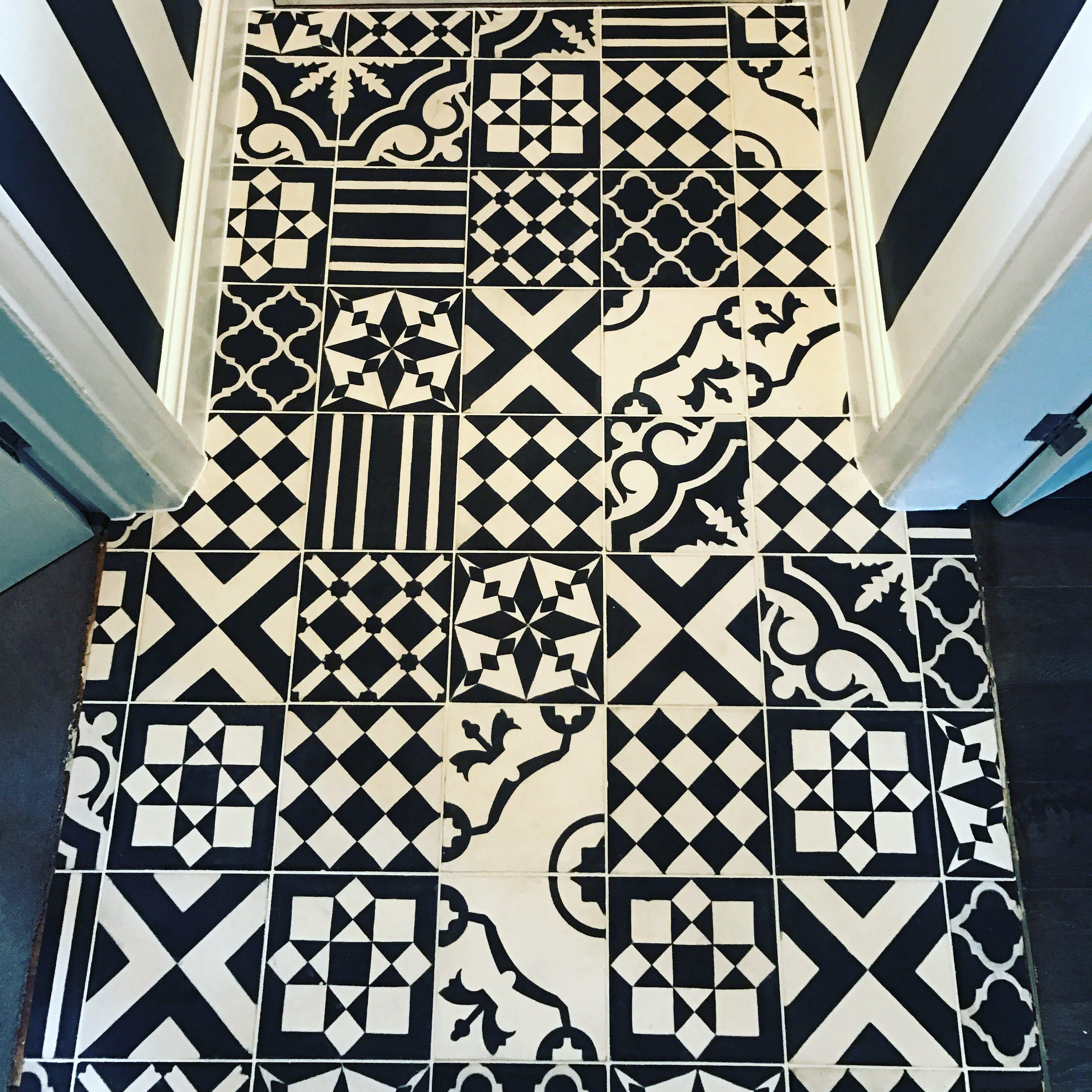 Encaustic flooring tiles in Sheffield
