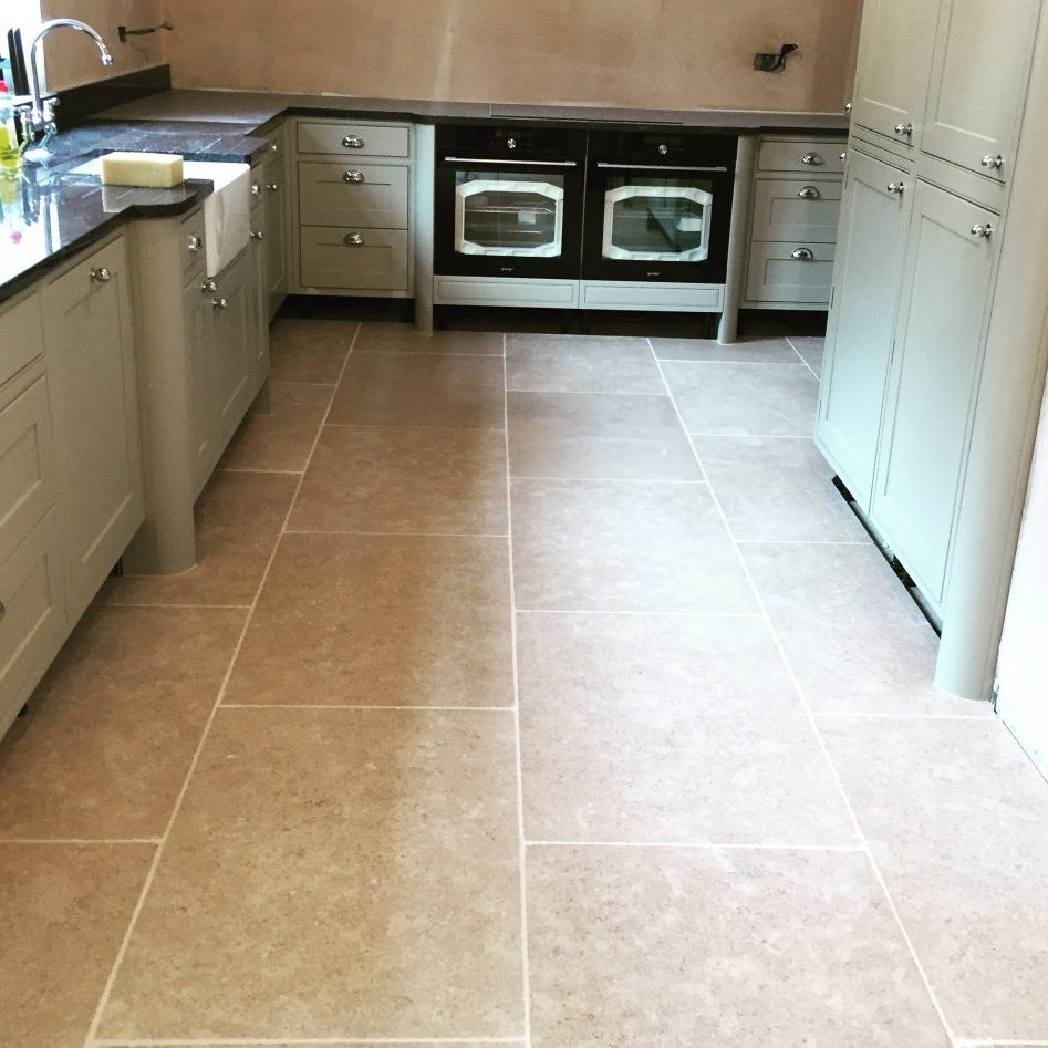 Large format stone floor tiles in Sheffield