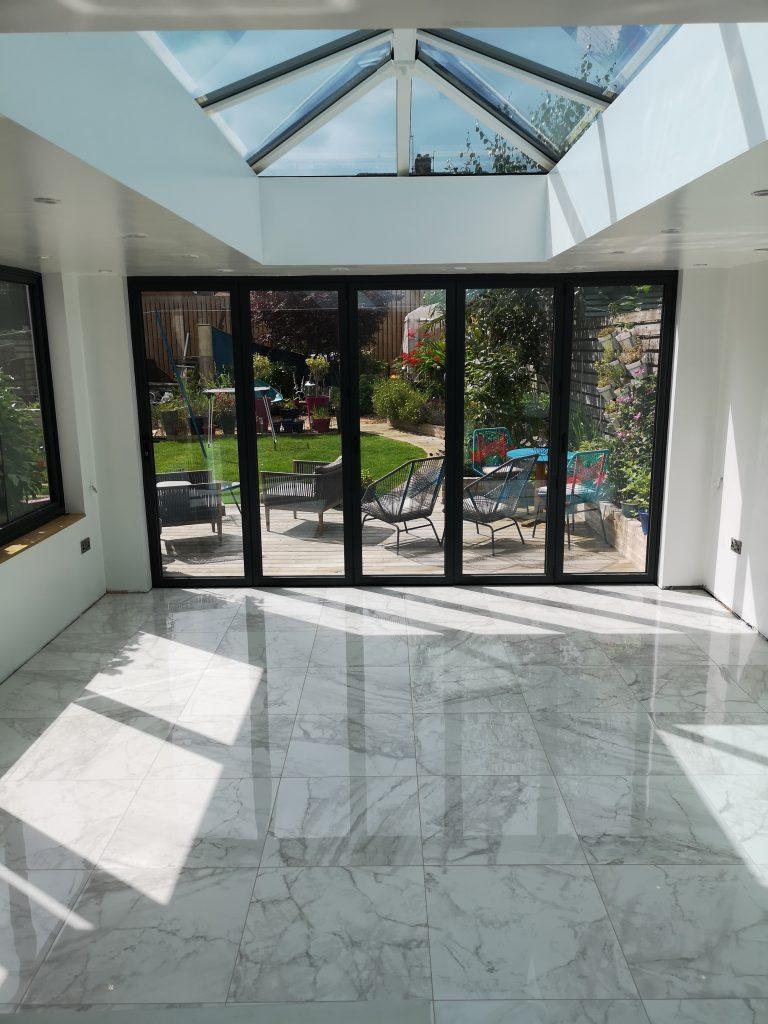 Calcatta porcelain floor tiles in Dronfield