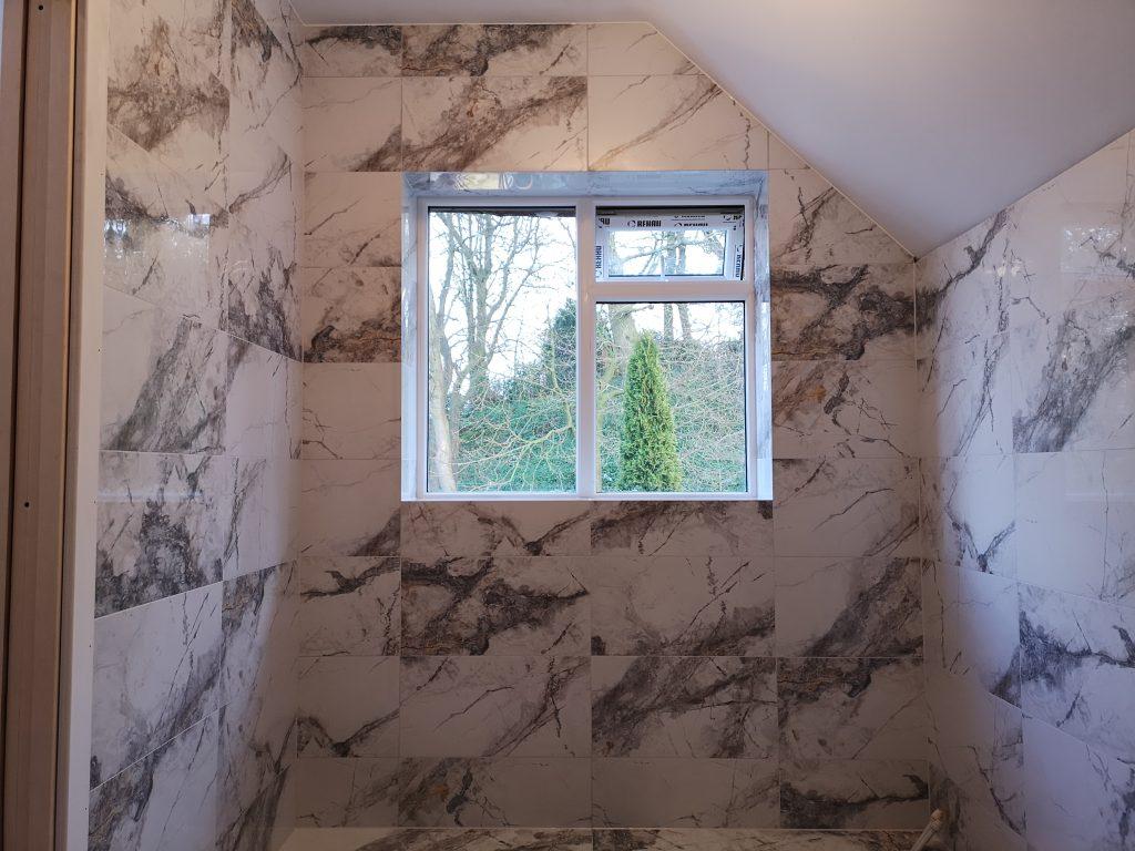 Calcatta porcelain tiles in sheffield