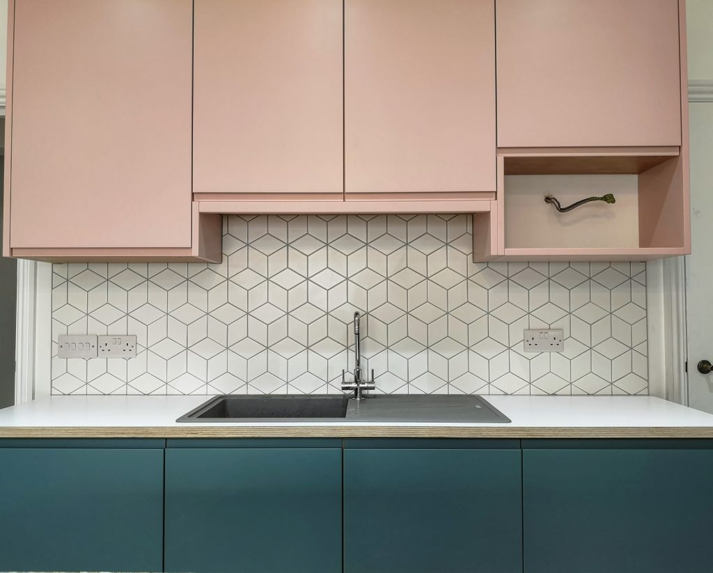geometric kitchen tiling in Chesterfield