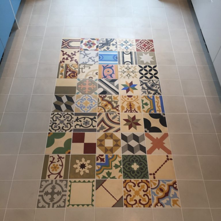 Encaustic floor tiles with underfloor heating in Sheffield