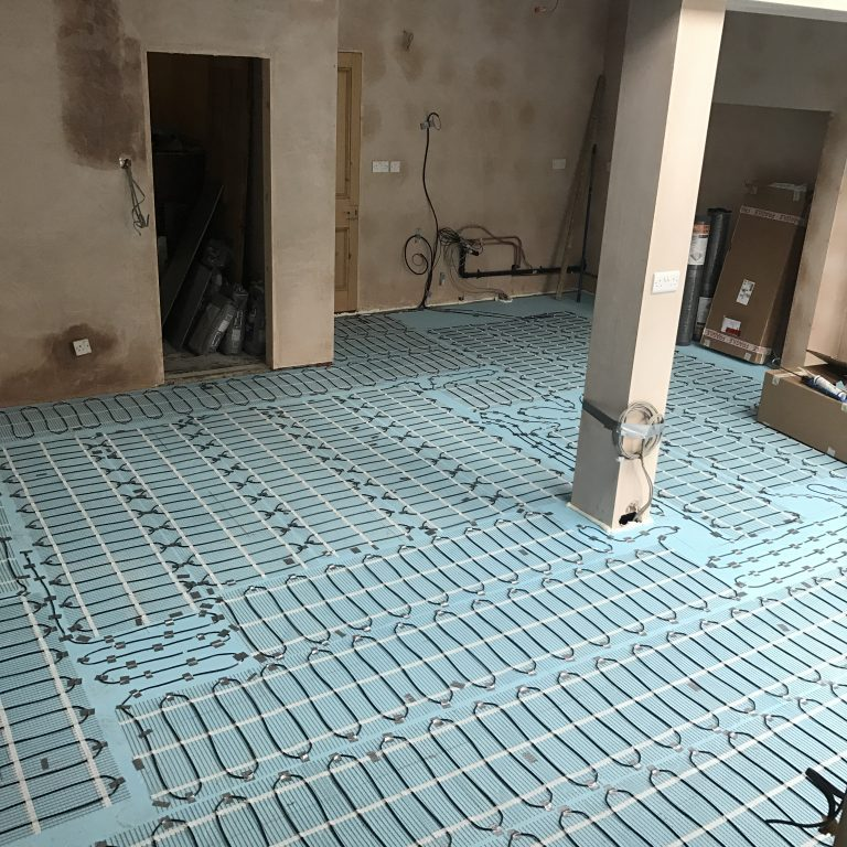 Electric underfloor heating fitted in Derbyshire.